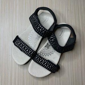 Aetrex Maria Black Comfort Sandals